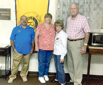 The Oak Grove Ruritan Club saw an increase of five new club members this year. From left are James Dobbs, Oak Grove president; Regina Blackwell, one of the five; Barbara Trentham, Oak Grove Club treasurer, who recruited three of the five; and WW Johnson, Cherokee District Ruritan Growth and Development chairman. Anyone interested in or becoming a part of Ruritan, an organization dedicated to improving communities and building a better America through fellowship, goodwill and community service, may call Dobbs at 423-284-7514.