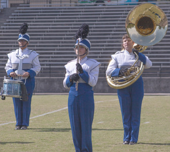 A TRIO of students from Hiwassee Dam High School in Murphy, N.C., perform during the Bradley Classic.