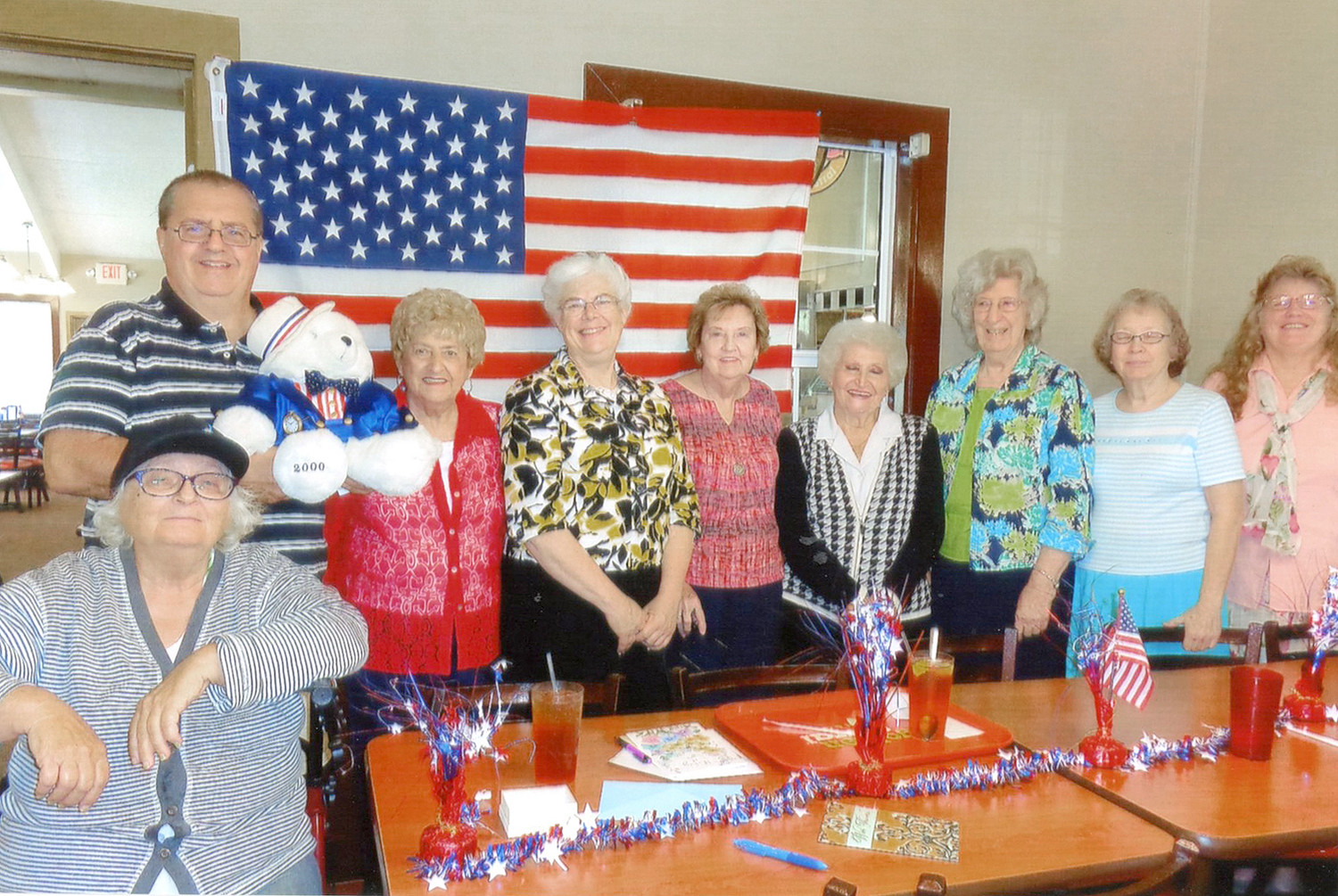 The United Club met at Golden Corral on Sept. 24. From left are Martha Ledford, front, Shawn Markie, Martha Bostic, Vicki Smith, Pat Thompson, Shirley Shadden, Bettie Marlowe, Hilda Sutton and Barbara Hargraves.