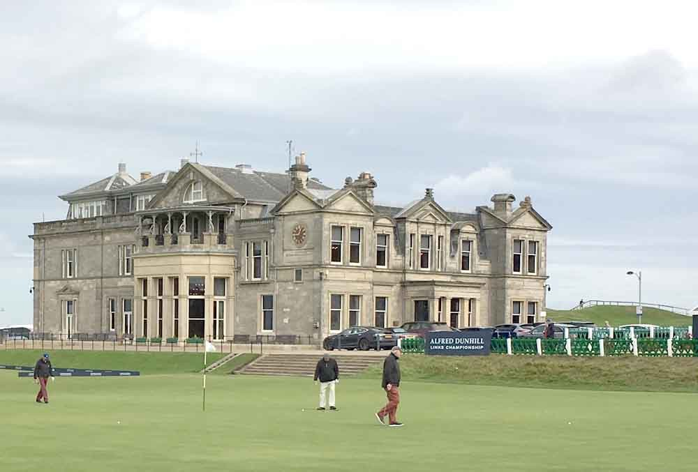 The Old Course, St. Andrews Scotland, the home of golf.