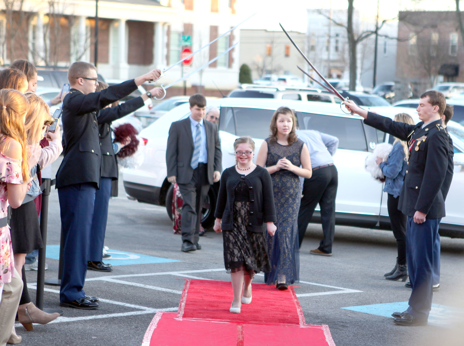 "At ""NIGHT TO SHINE,"" special needs attendees age 14 and up were treated to a prom event, complete with an arrival to the event in a limo, hair and makeup styling, showshines, food, dancing, face painting, karaoke, balloon animals, and photos with miniature ponies."