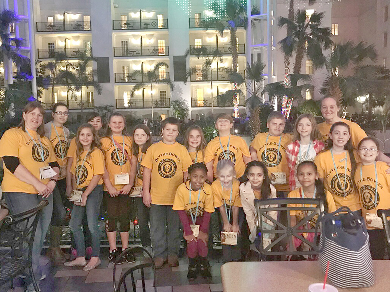 The Blythe-Bower Elementary Beta Club attended the State Convention recently. Members won third place overall in math, third place overall in science and first place in the scrapbook competition.