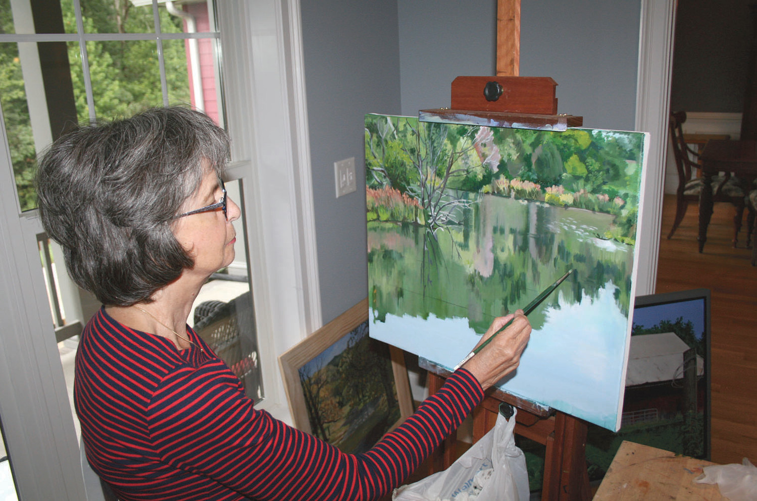 DONNA ANGELO is also an accomplished artist using her talent to keep her occupied while she heals.
