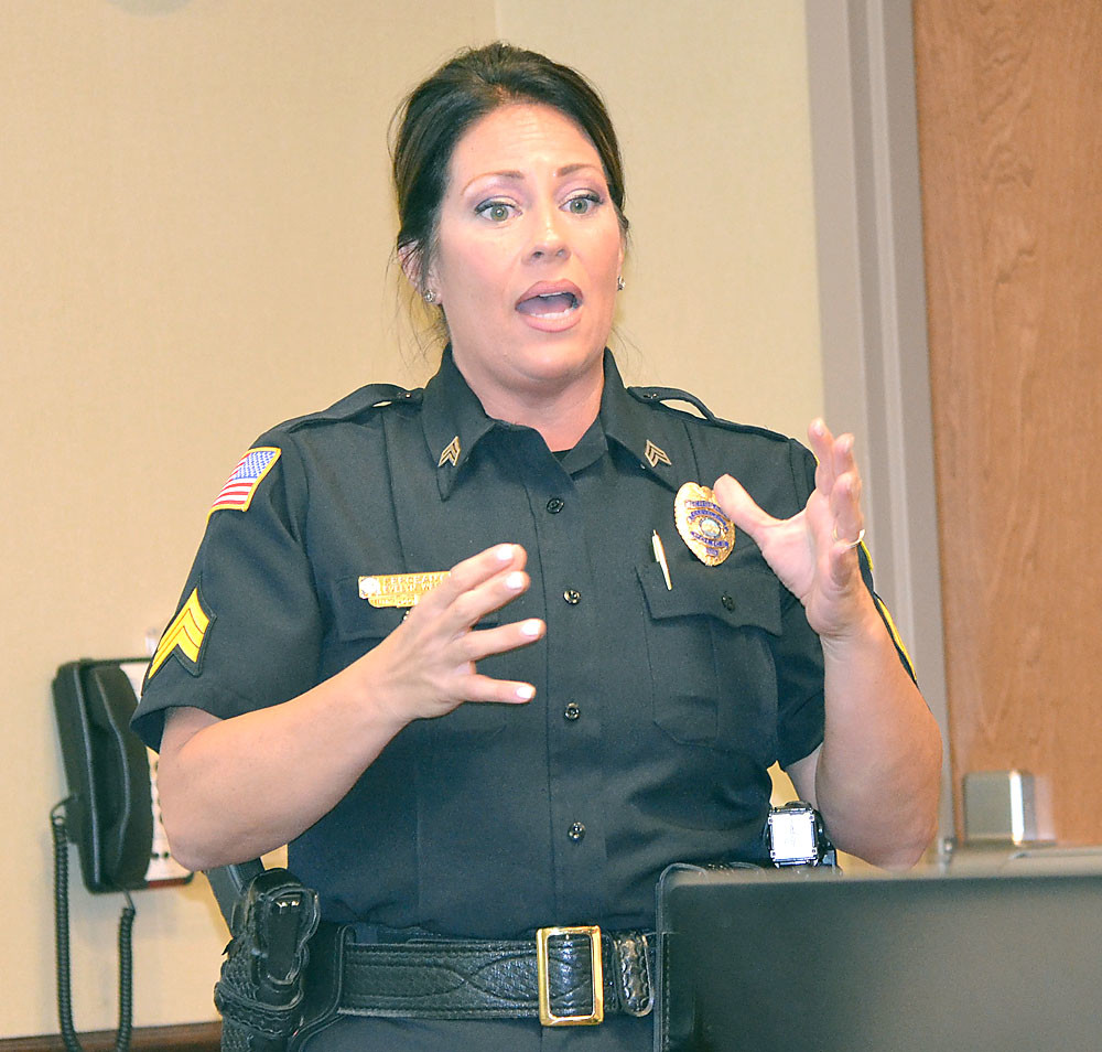 EVIE WEST, public information officer for the Cleveland Police Department, spoke to the Cleveland Media Association about crisis communication at the CMA meeting on Friday.