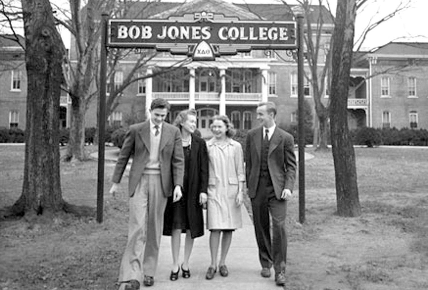 THIS IS A VIEW of students on the campus of Cleveland's Bob Jones College in the 1930s, around the time a young Billy Graham attended classes in Cleveland, before he became a man of the cloth. The college moved to Greenville, S.C., following World War II, and the local campus is now Lee University.