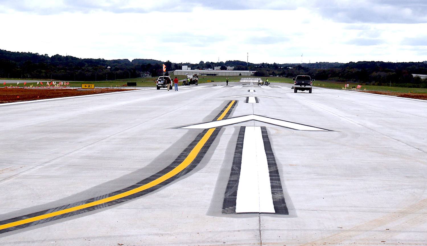 THIS IS THE WIDE expanse and markings on the new runway extension at the Cleveland Jetport. The $2.5 million project was made possible by a grant from the Tennessee Aeronautical Commission, spearheaded by State Rep. Kevin Brooks of Cleveland.