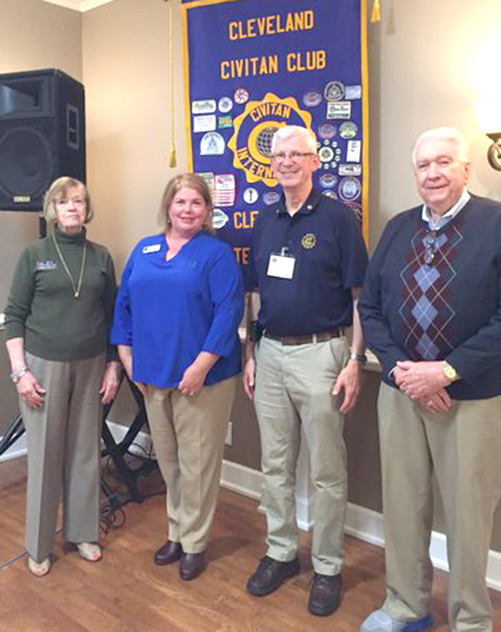 "Shannon Clark of the Trousdale School was the guest speaker for the Civitan Club meeting Wednesday. She discussedthe history and the new expansion plans for the school.  It currently has 26 adult intellectually challenged students who are learning basics and work skills. There are plans to expand the student capacity soon.  Other discussions were for the ""Pasta with a Purpose"" spaghetti dinner on Nov. 2 to raise funds for the upgrades to the All Inclusive Playground at Stuart School.  See any Civitan member for tickets. From left are Betty Haralson, speaker Shannon Clark of Trousdale School,"