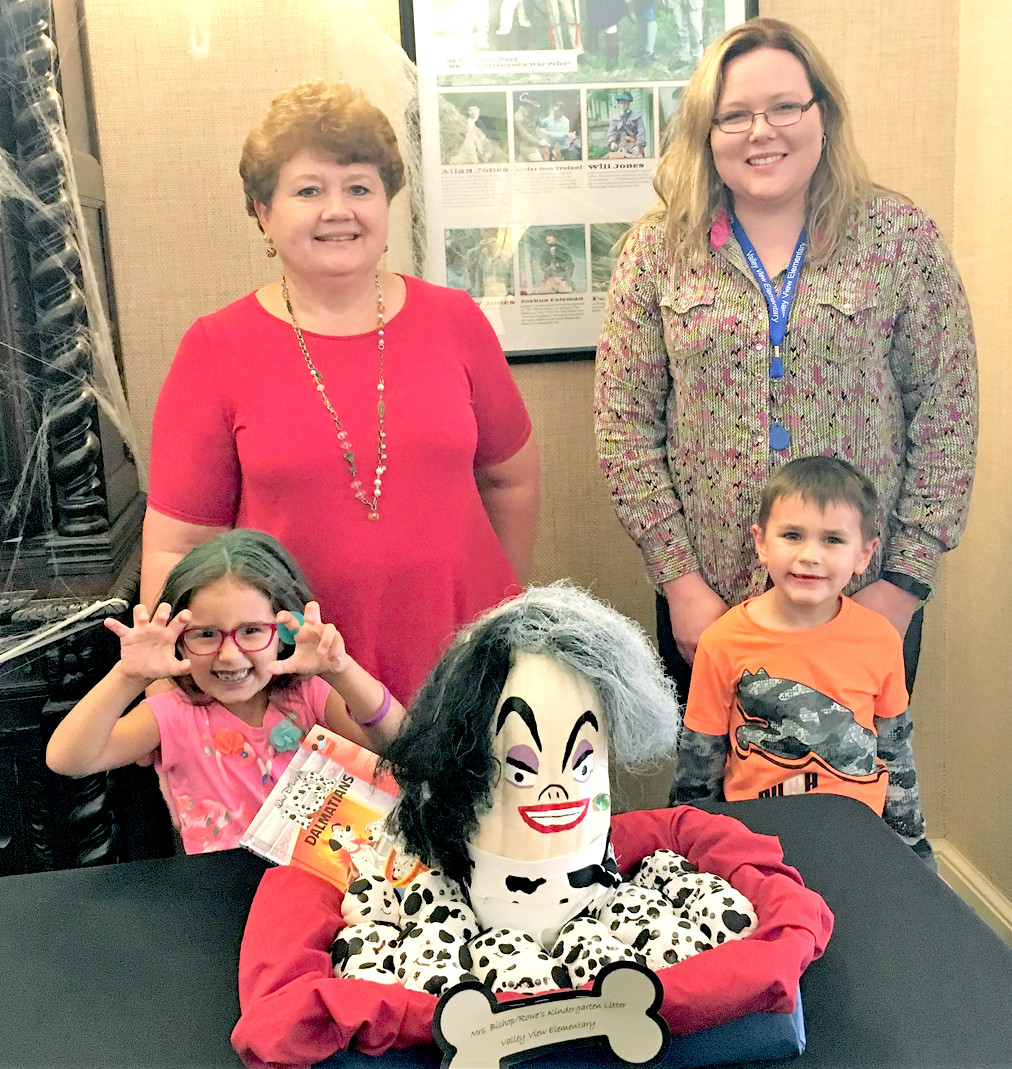Karen Bishop's kindergarten classroom at Valley View Elementary had the second-place Painted Pumpkin display in the Bank of Cleveland competition.