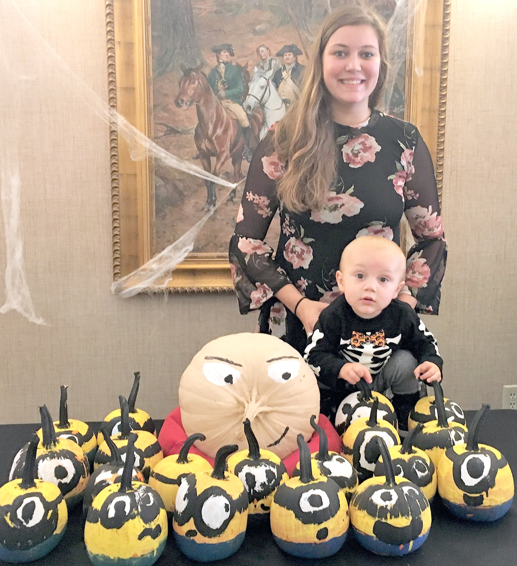 Kirsten Donnelly's second-grade classroom at Arnold Elementary was the lucky winner in the Bank of Cleveland Painted Pumpkin contest.