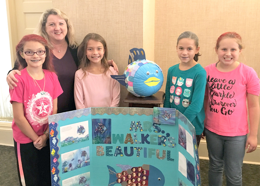 Debbie Walker's fourth-grade classroom at Michigan Avenue elementary was named the Facebook Favorite in Bank of Cleveland's Painted Pumpkin contest.
