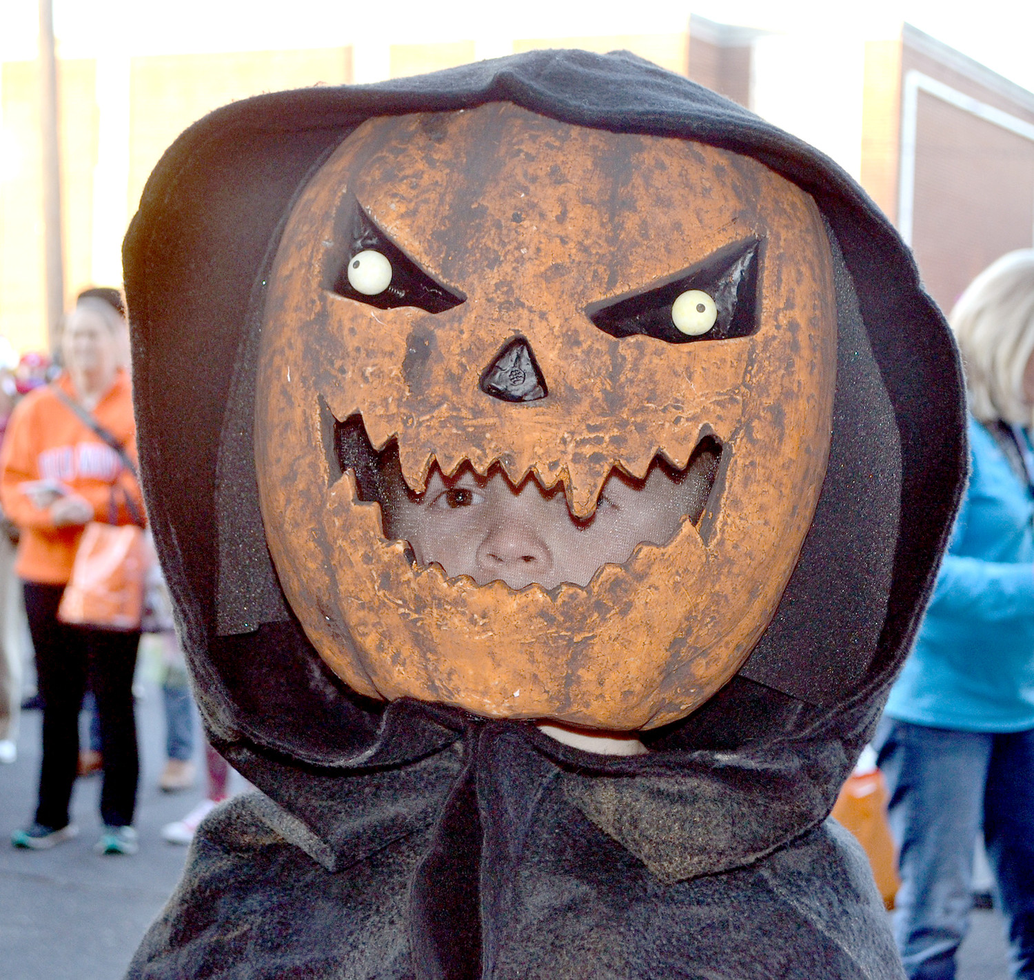 PUMPKINHEAD was a hit among the costume contestants Tuesday night at the Downtown Block Party.