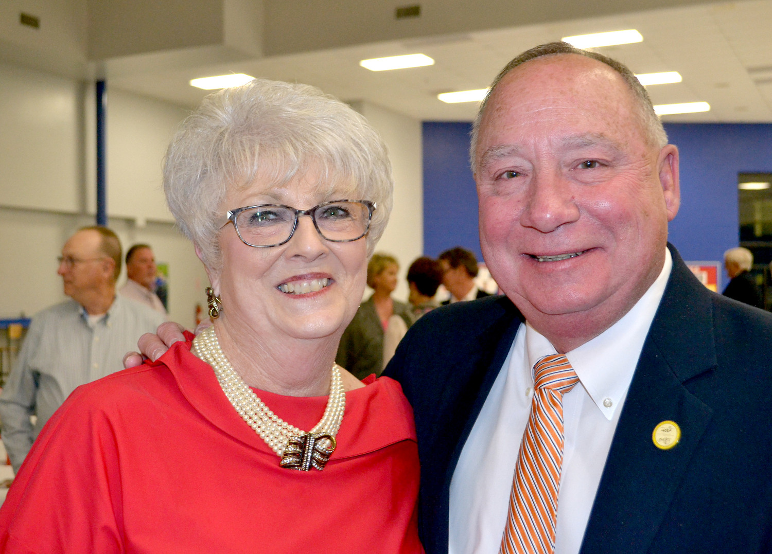 DALE DIXON AND MIKE SMITH were recipients of the Republican Woman of the Year and Republican Man of the Year at Saturday's Reagan Day Dinner.