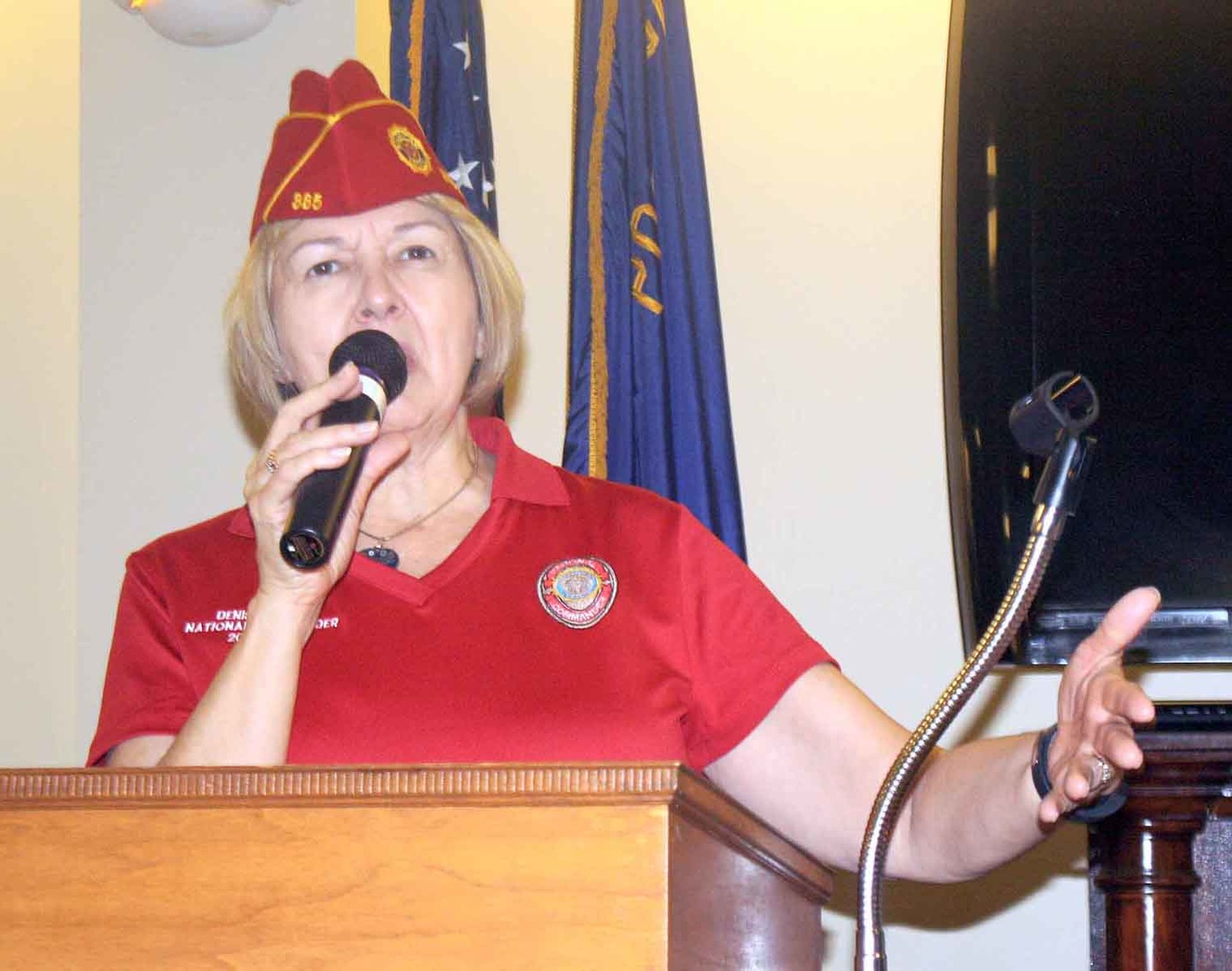 "AMERICAN LEGION NATIONAL Commander Denise Rohan, of Madison, Wisconsin, was in Cleveland on Tuesday, a part of her whirlwind tour across the state. Visits to 14 states since her election in September were designed to promote the theme for 2018 — ""Family First."""