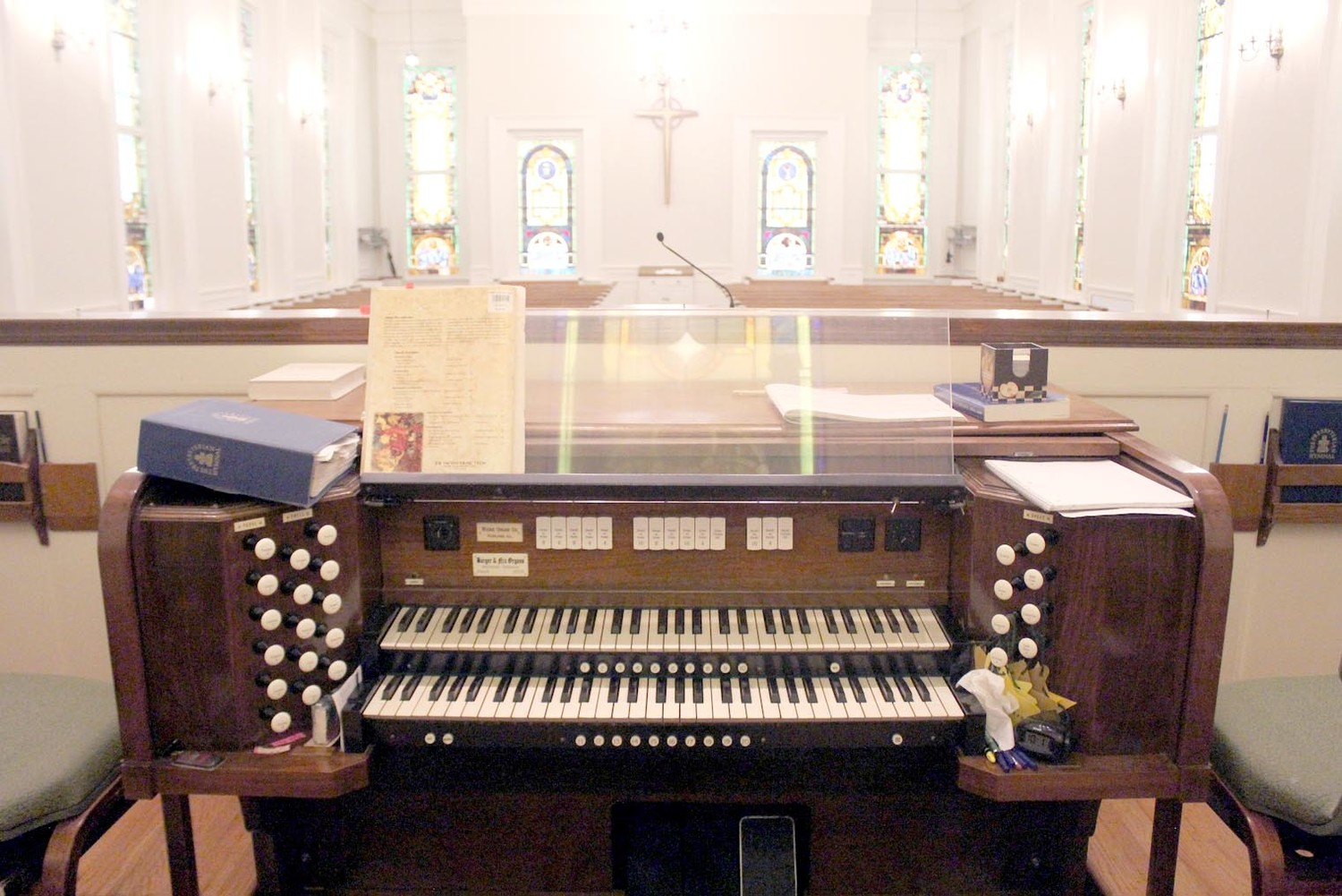 The beautiful organ was redone in 2004. It is located in the choir area.
