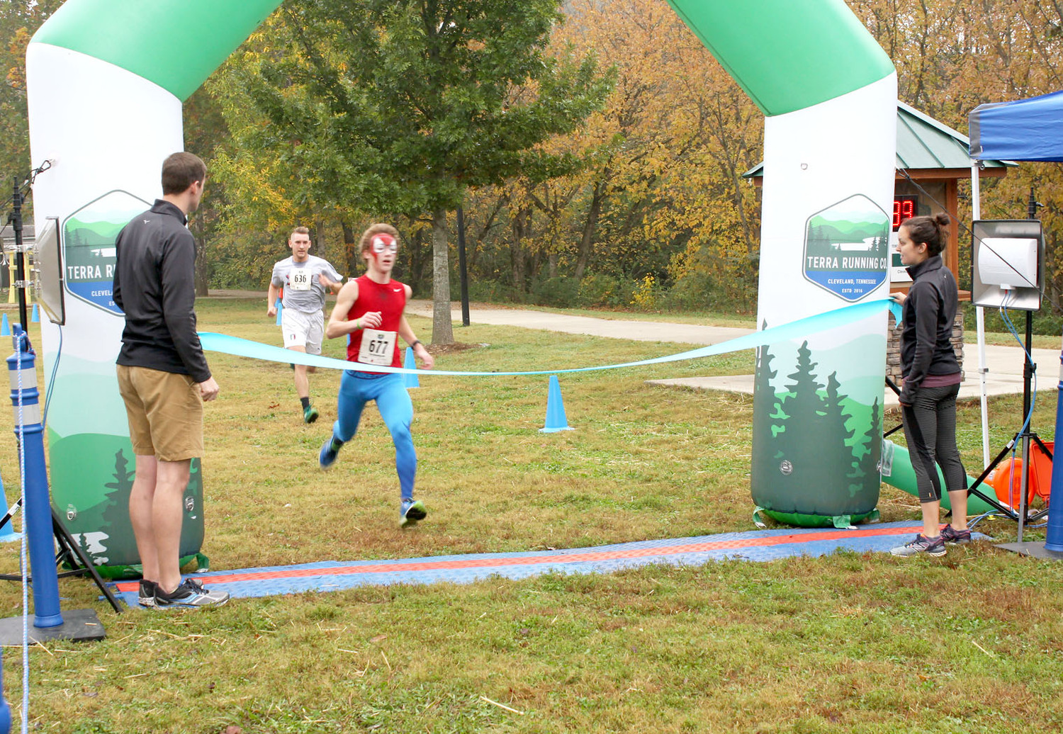 LUCAS FINNELL was the first-place finisher in the CASA Superhero run.