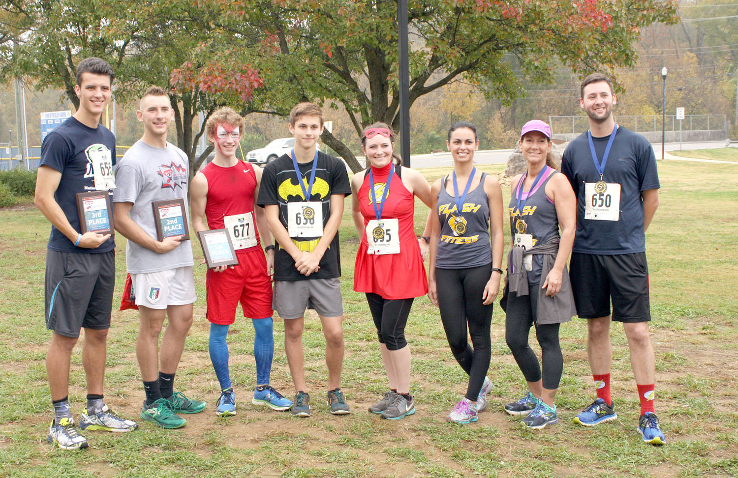 VARIOUS PARTICIPANTS were involved in the recent CASA Superhero run/