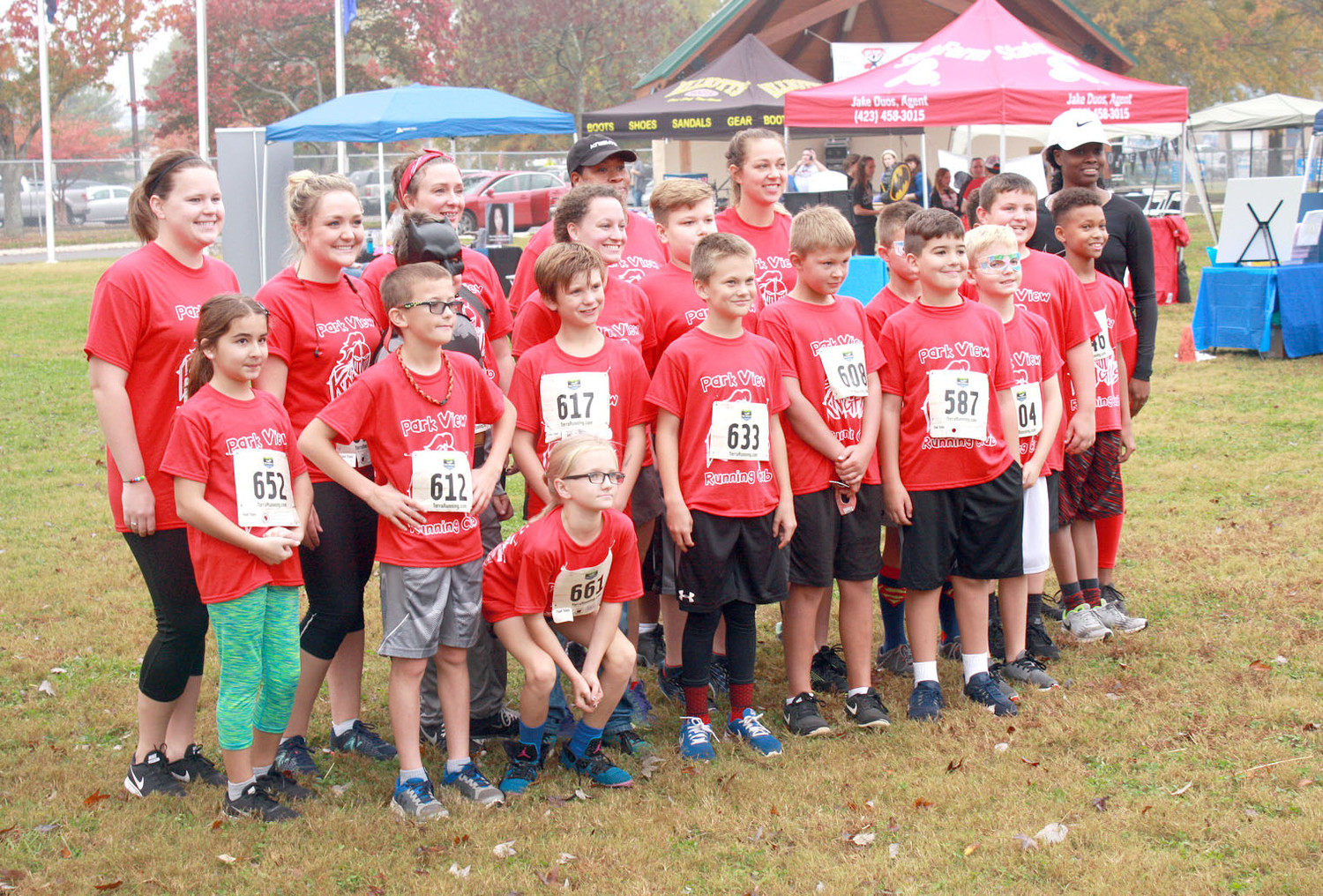 PARK VIEW ELEMENTARY had a special team of students participate in the CASA SUperhero run.