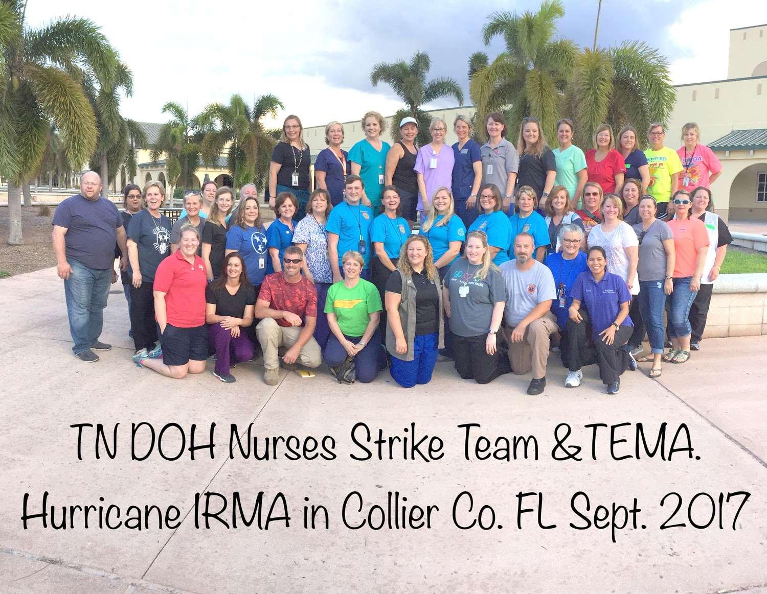 THIS TENNESSEE STRIKE team of nurses is shown in Collier County, Fla., where they assisted with the Hurricane Irma relief effort, providing support to around 200 special needs people at Palmetto High School.