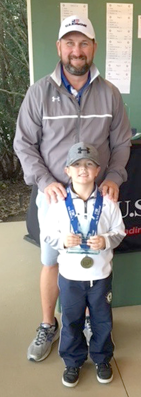 NORTH LEE Elementary first-grader Hayden Nall won the US KIDS Golf Chattanooga Tour Championship on Nov. 18. Nall carded a 2 over par 38 in victory at Fields Ferry Golf Course in Calhoun, Ga. Nall also earned USKG Player of the Year honors with five fall tour victories, and a 2.8-over-par scoring average. Winning Player of the Year gets Nall exemption into the 2018 USKG WORLD Championship in Pinehurst, N.C.
