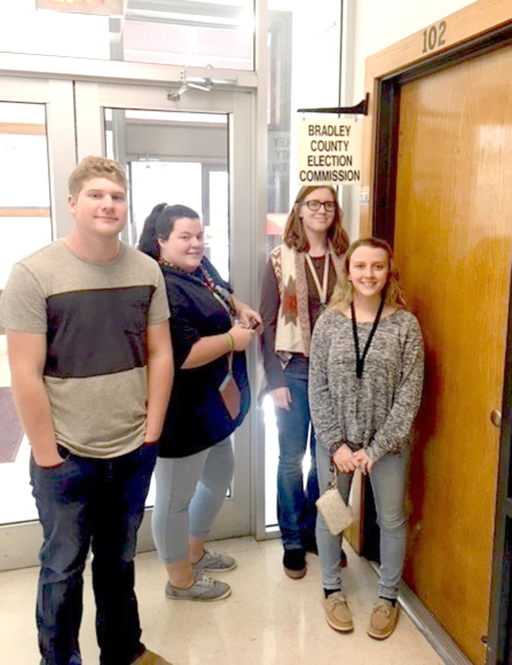 WALKER VALLEY High School students recently visited the Bradley County Election Commission while on a tour of local industries.