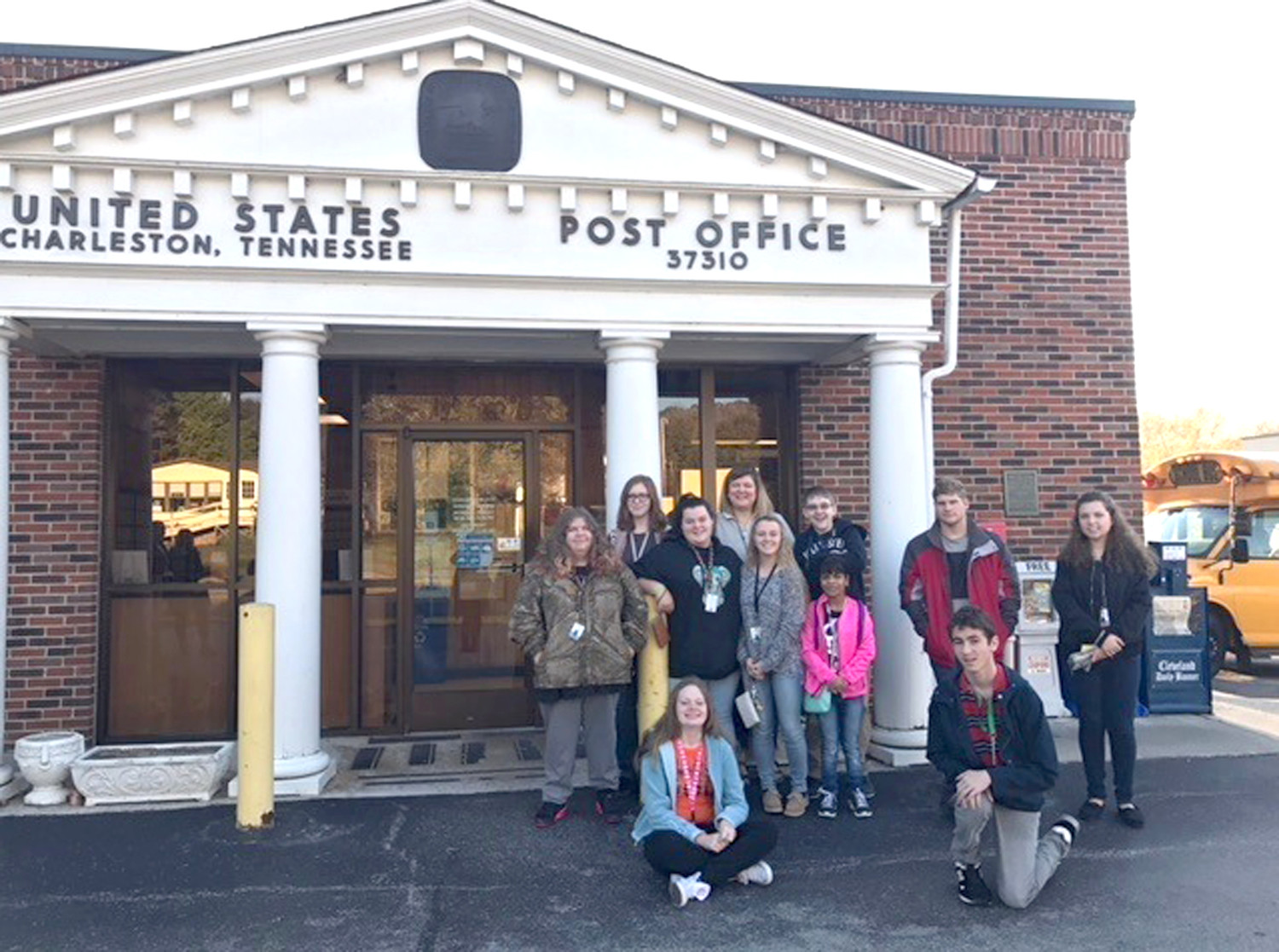 THE U.S. POST OFFICE in Charleston was one of the locations a group of Walker Valley High School students visited on their field trip.