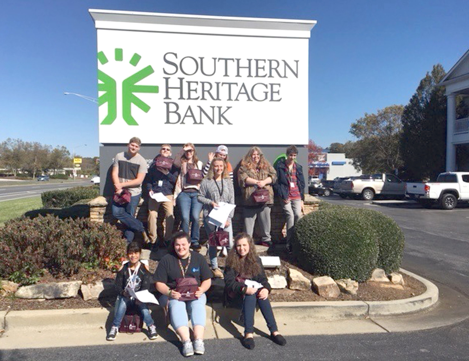 SOUTHERN HERITAGE Bank was one of many stops on an industry tour taken by students at Walker Valley High School.