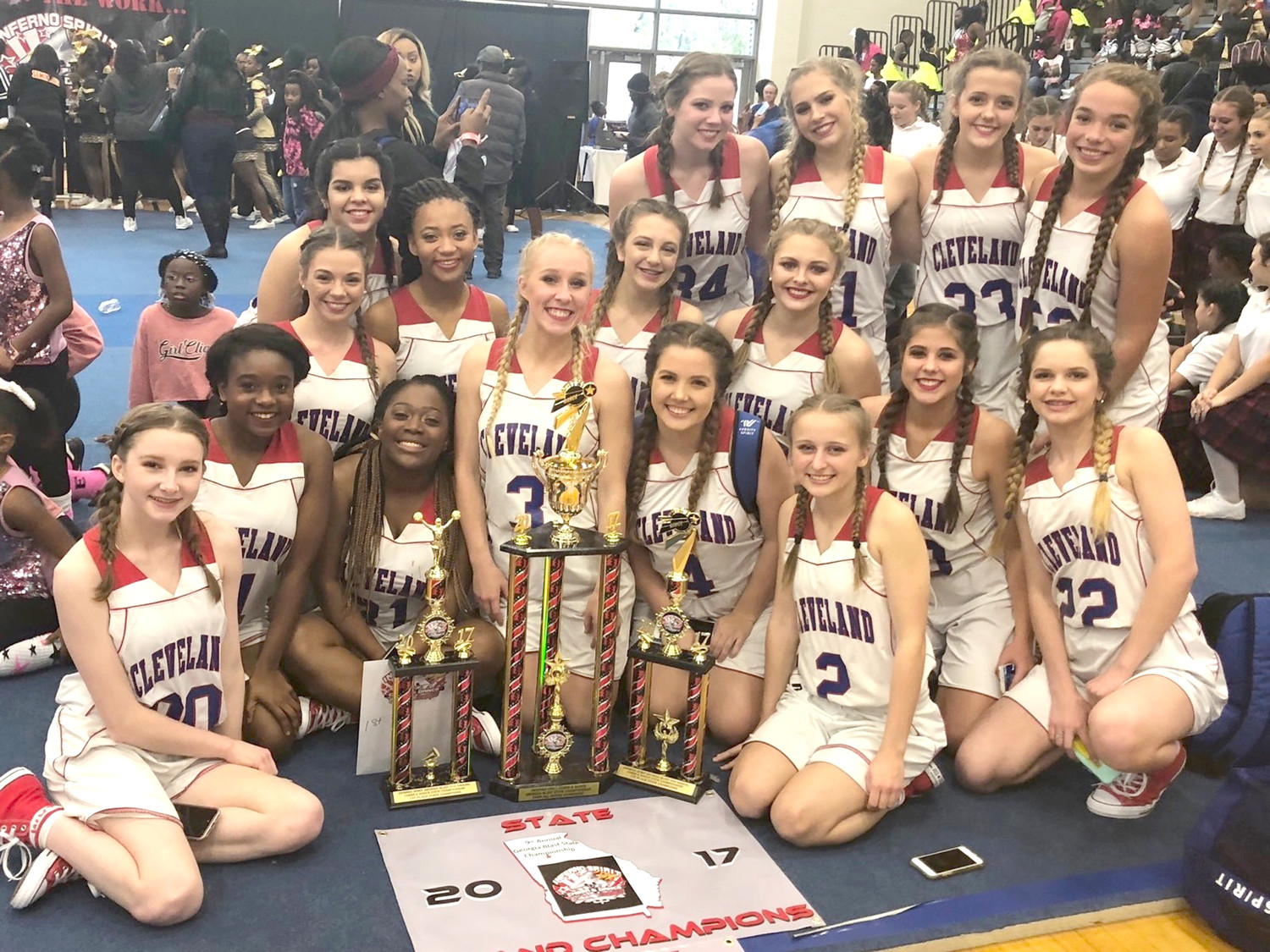 CLEVELAND HIGH SCHOOL'S dance team won several awards during a recent competition in Atlanta, including the prestigious Overall Grand Champion Award.