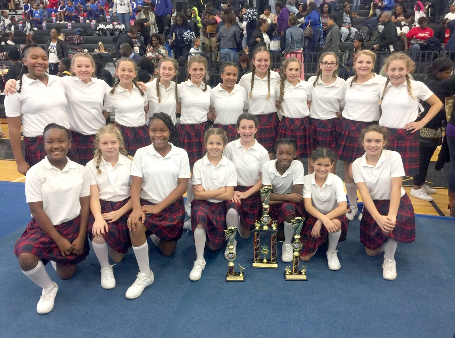 CLEVELAND MIDDLE SCHOOL'S dance team found success in their recent competition in Atlanta. The team won three awards, including a first-place one.