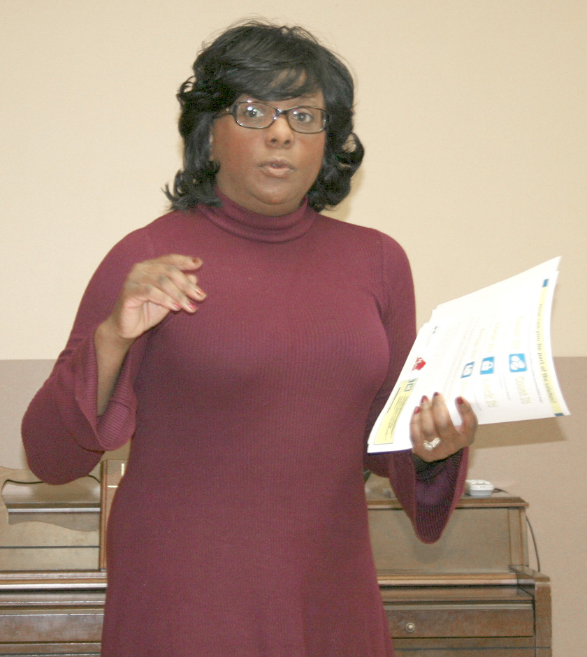 Camilla Bibbs-Lee speaks about opioid abuse at the Health Council meeting Tuesday.