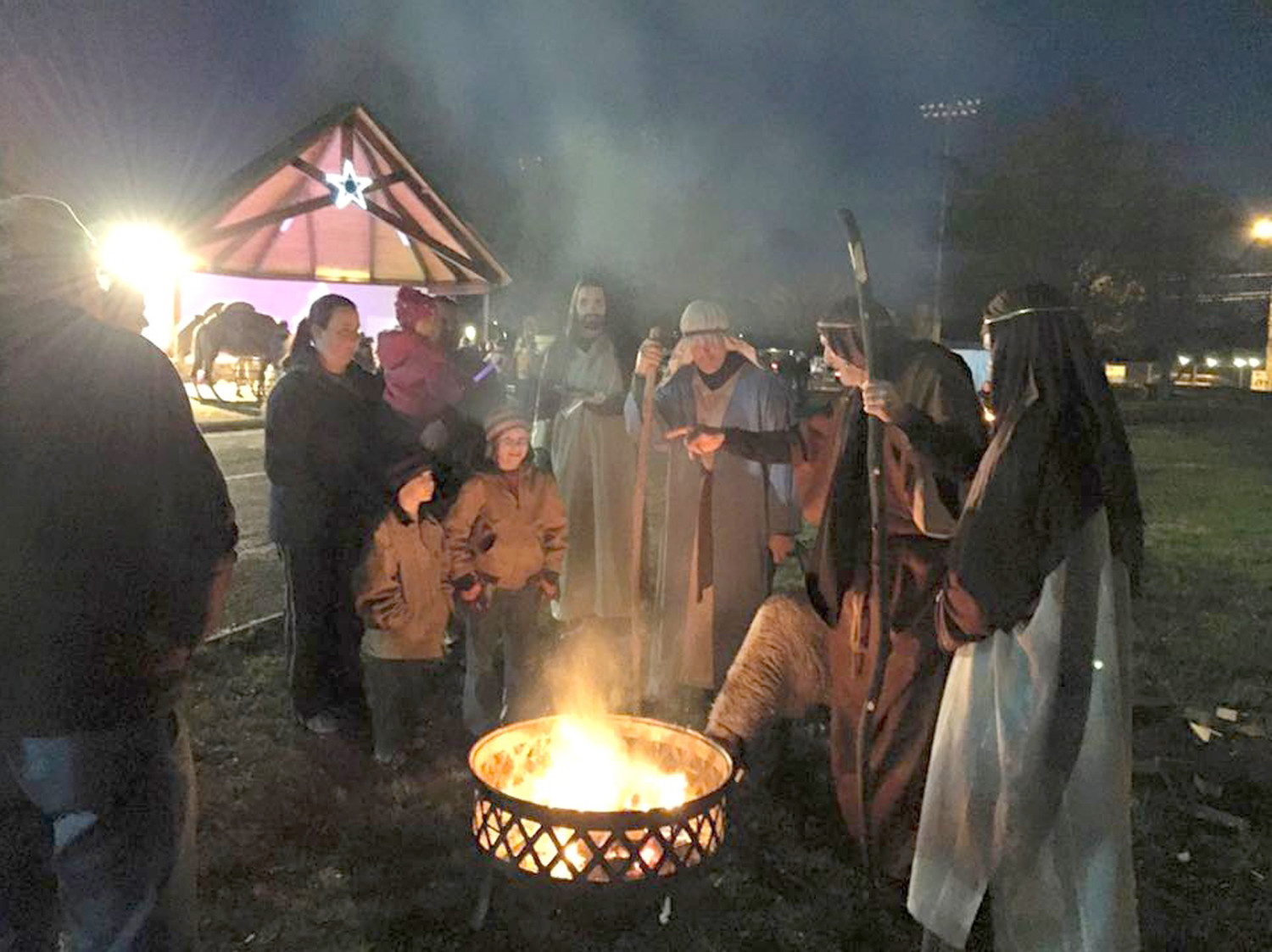"SHEPHERDS show guests the way as they participate in last year's ""Journey to the Manger."" The event takes place three evenings this week at Greenway Park, located off Raider Drive."