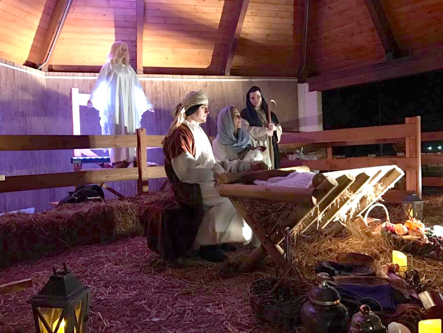 "ACTORS from local churches depict the story of Christ's birth during last year's ""Journey to the Manger"" event. This year's event is scheduled for tonight, Friday night and Sunday night."