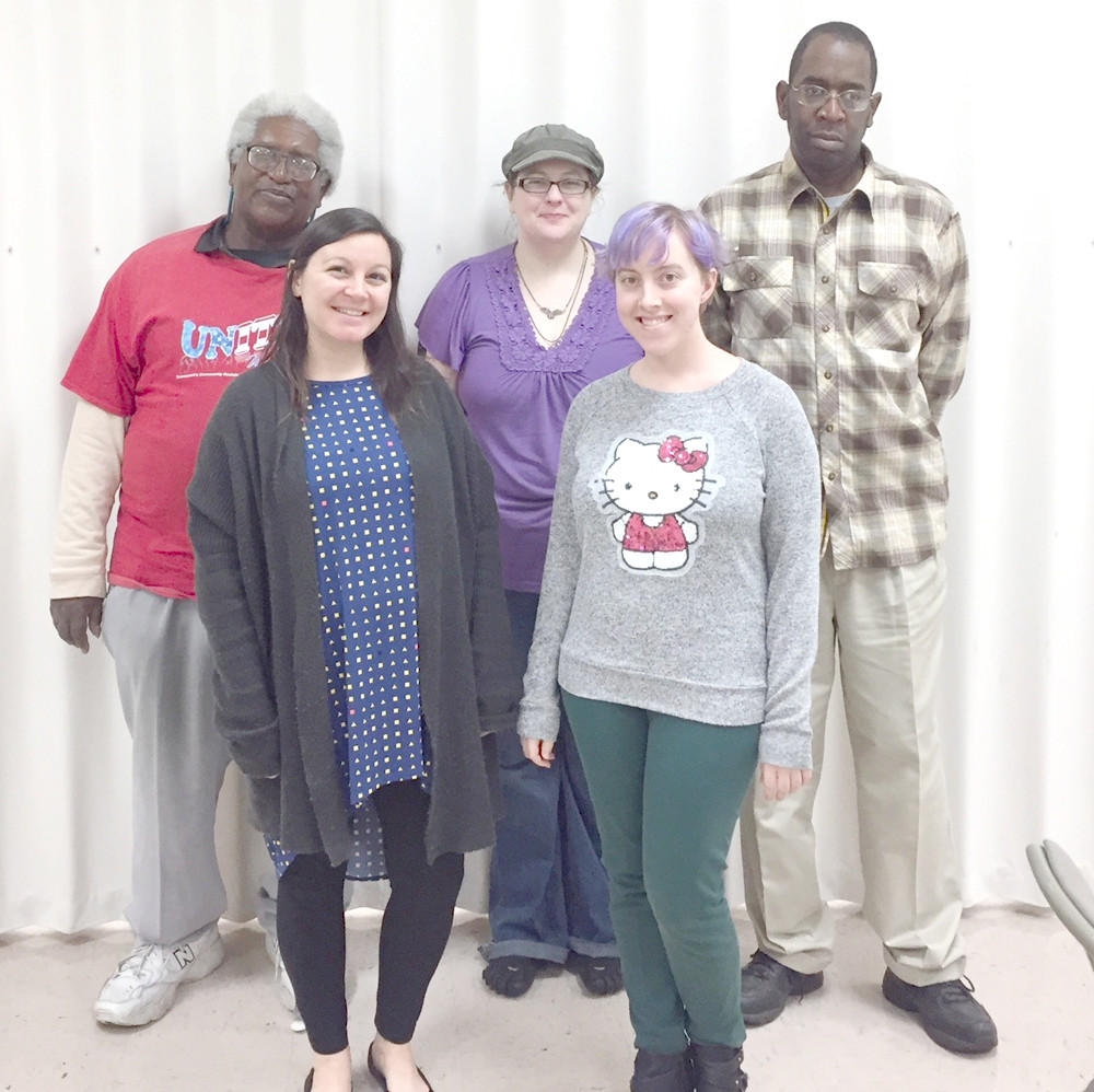 The South East Chapter of the National Federation of the Blind met in November with guest speakers Liz McElhaney and Caitlin Wade, from Family Promise. From left, first row, are McElhaney and Wade. In the second row are Faheem Bengazi, vice president, Holly Rose, vice president, and Jackie Homes.