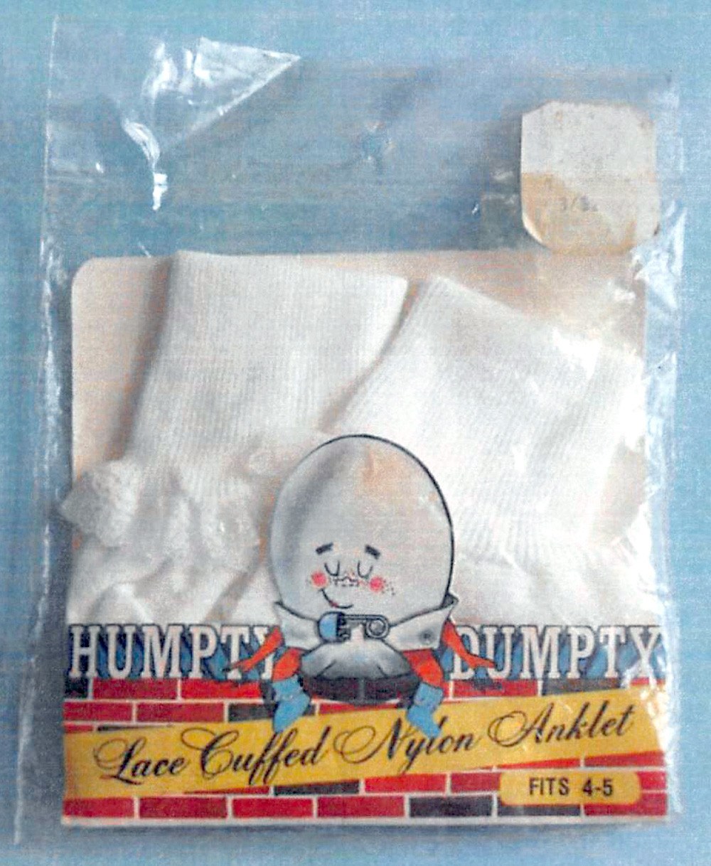 HUMPTY DUMPTY hosiery was a famous brand name manufactured by Sanda Hosiery.