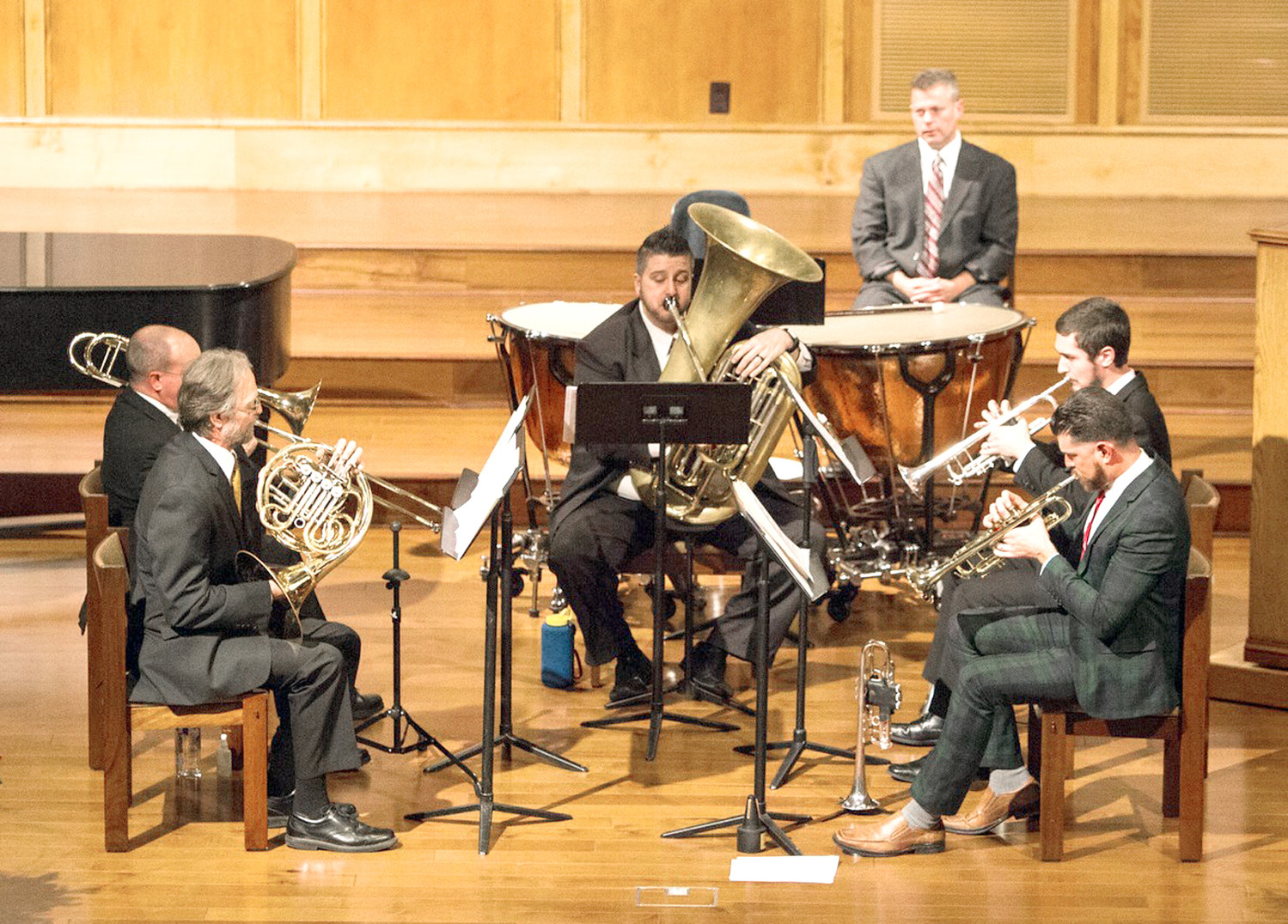 Lee University Faculty Brass to present concert on Monday evening at Pangle Hall.