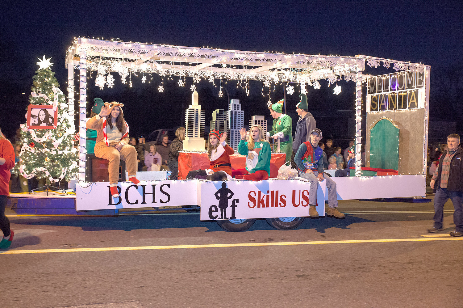 THE SKILLS USA float won the Middle/High School float award in the Mainstreet Cleveland Christmas Parade.