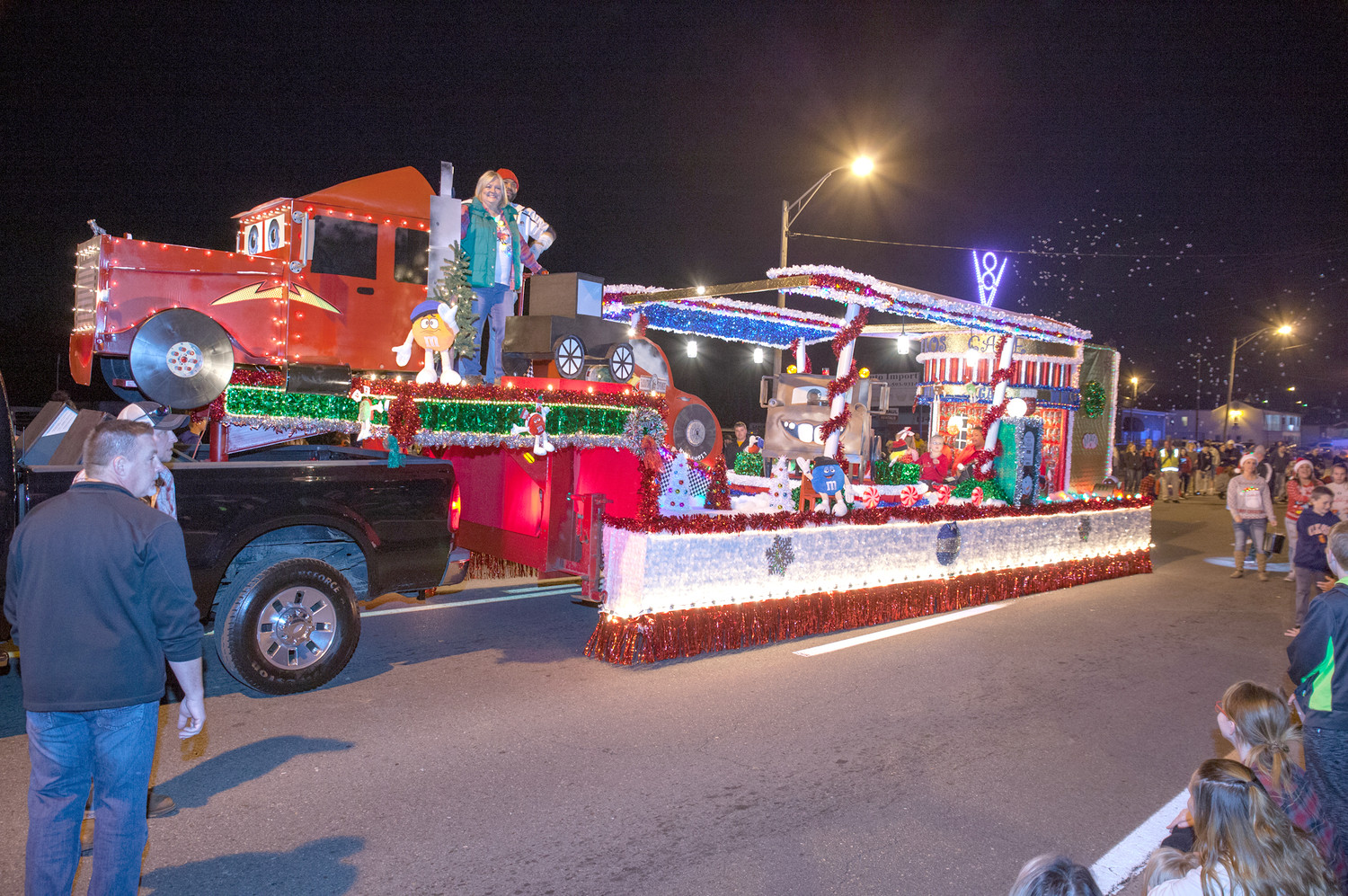 M&M MARS WON the Best Overall float award in the Mainstreet Cleveland Christmas Parade on Saturday night December 2.