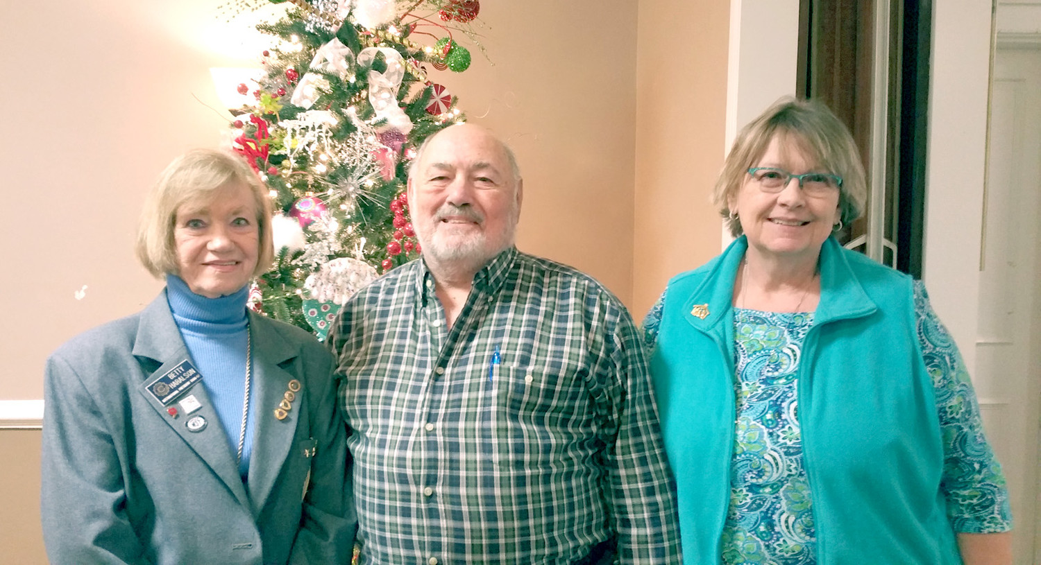Ceveland Civitan Club had a new member induction in November. Betty Harleson, past international president, inducted  new members Joe and Nancy Marucco.