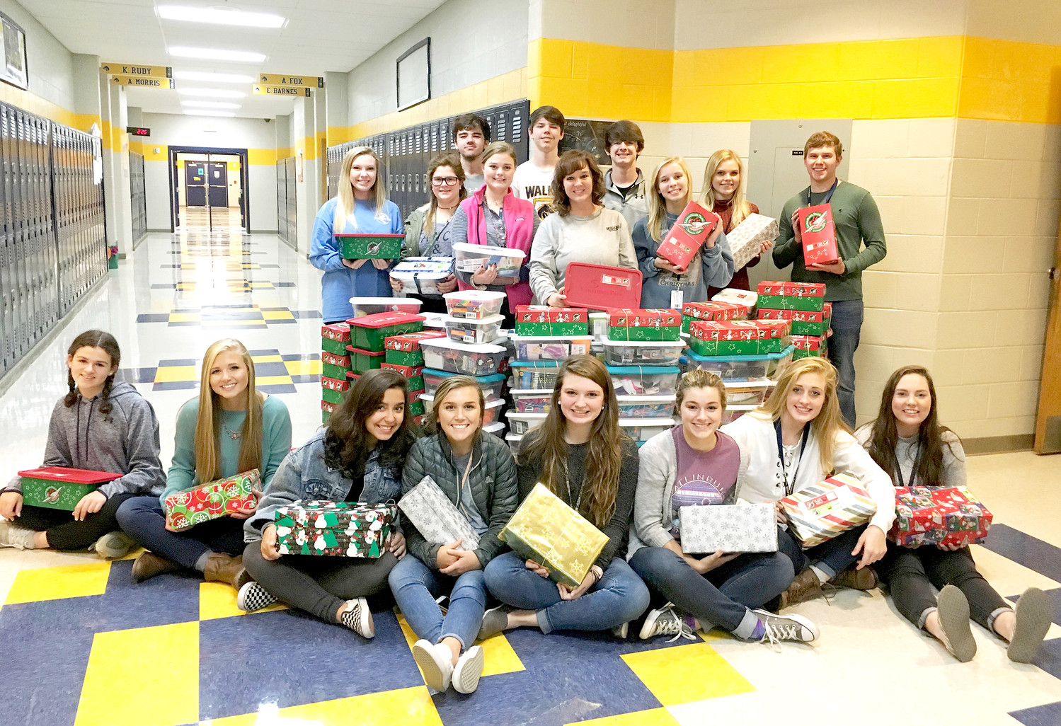 WALKER VALLEY HIGH SCHOOL'S Beta Club recently collected 206 Operation Christmas Child shoeboxes for the Samaritan's Purse organization. It is hoped these boxes, full of gifts such as toys and school supplies, will provide joy for needy children overseas.