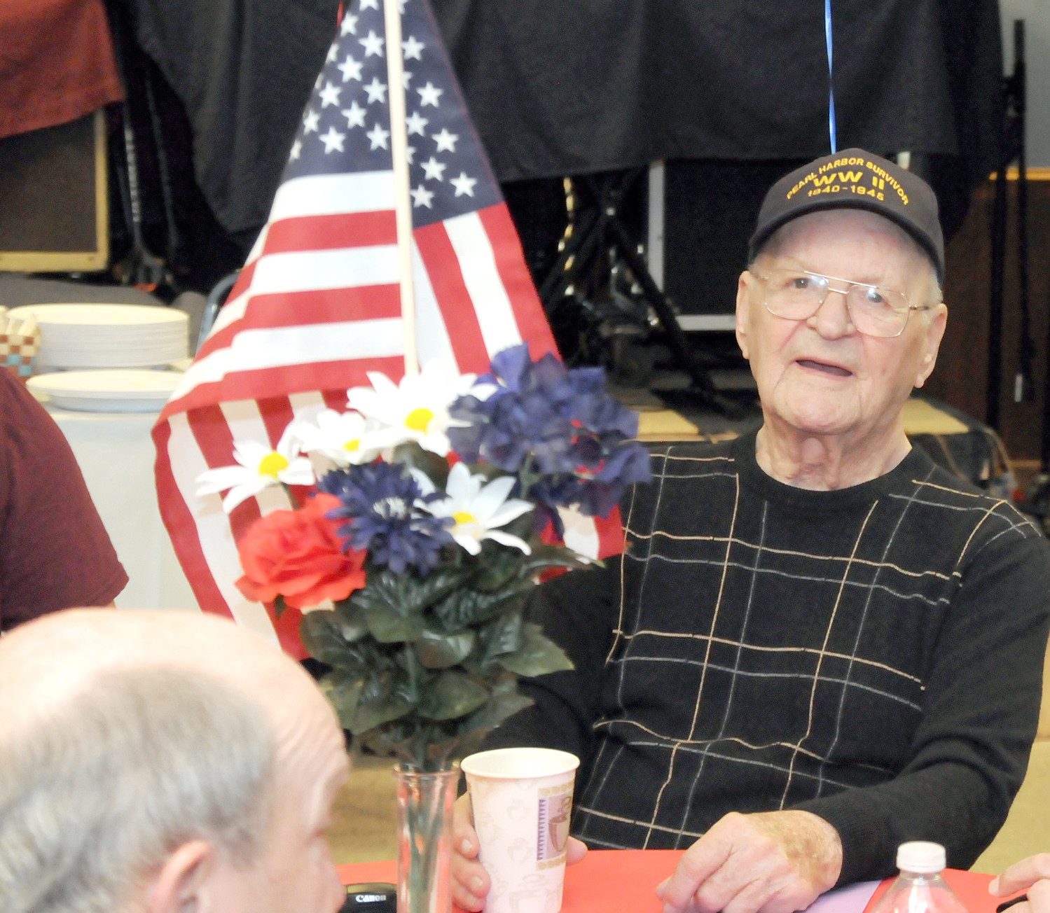 GEORGE ALLEN is the only survivor of the Japanese attack on Pearl Harbor still living in this area. He is looking forward to Thursday's Pearl Harbor Day commemoration at the Cleveland Elks Lodge. The ceremony, sponsored by the Sons of the American Revolution with State Rep. Kevin Brooks as the guest speaker, will begin at 10 a.m.