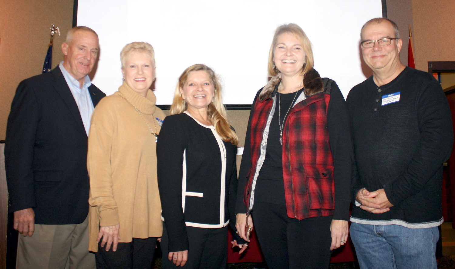 The BOARD OF DIRECTORS for the newly formed Old Copper Road Preservation Alliance includes, from left, Joe Fetzer, Janice Neyman, Dana Teasley, Melissa Wood and Ken Rush. Historian Brian Reed is also a member, but was unable to attend Wednesday's meeting.