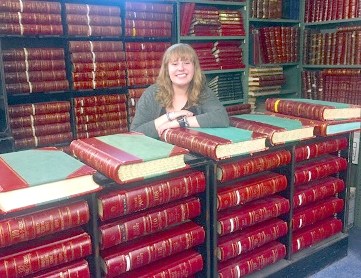 EMILY HARRIS started her internship in the Bradley County Archives surrounded by a wealth of knowledge