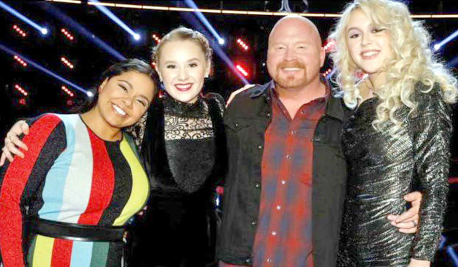 "THESE FOUR SINGERS will be competing for a recording contract next week in the finals of the national singing competition ""The Voice."" Former Lee University student Brooke Simpson, left, was one of the four to advance Tuesday night. The other three finalists, from left, include Addison Agen, Red Marlow, and Chloe Kohanski."