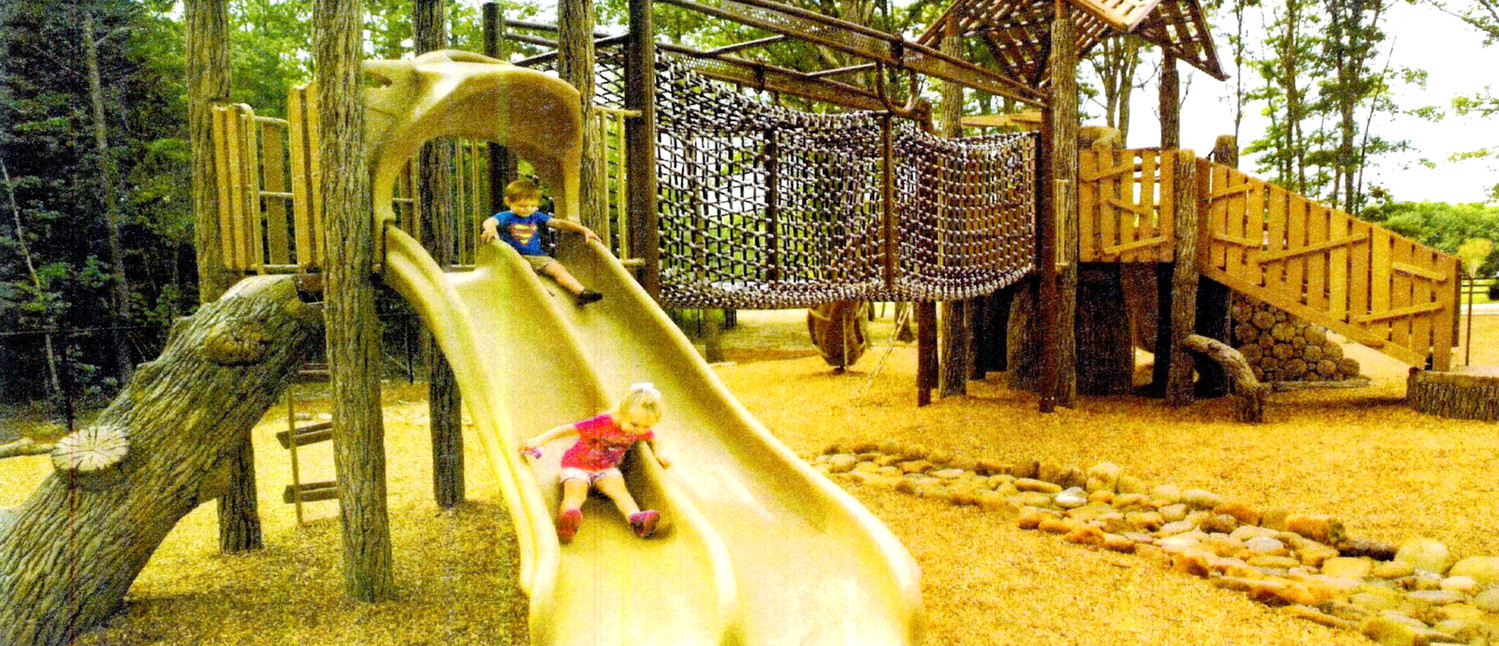 DEER PARK WILL be getting new slides and other playground equipment when the facility's upgrades begin in the spring. The fencing will be upgraded, along with some equipment, and the focus will be on the outdoors environment, including improvement on the stream dissecting the park.