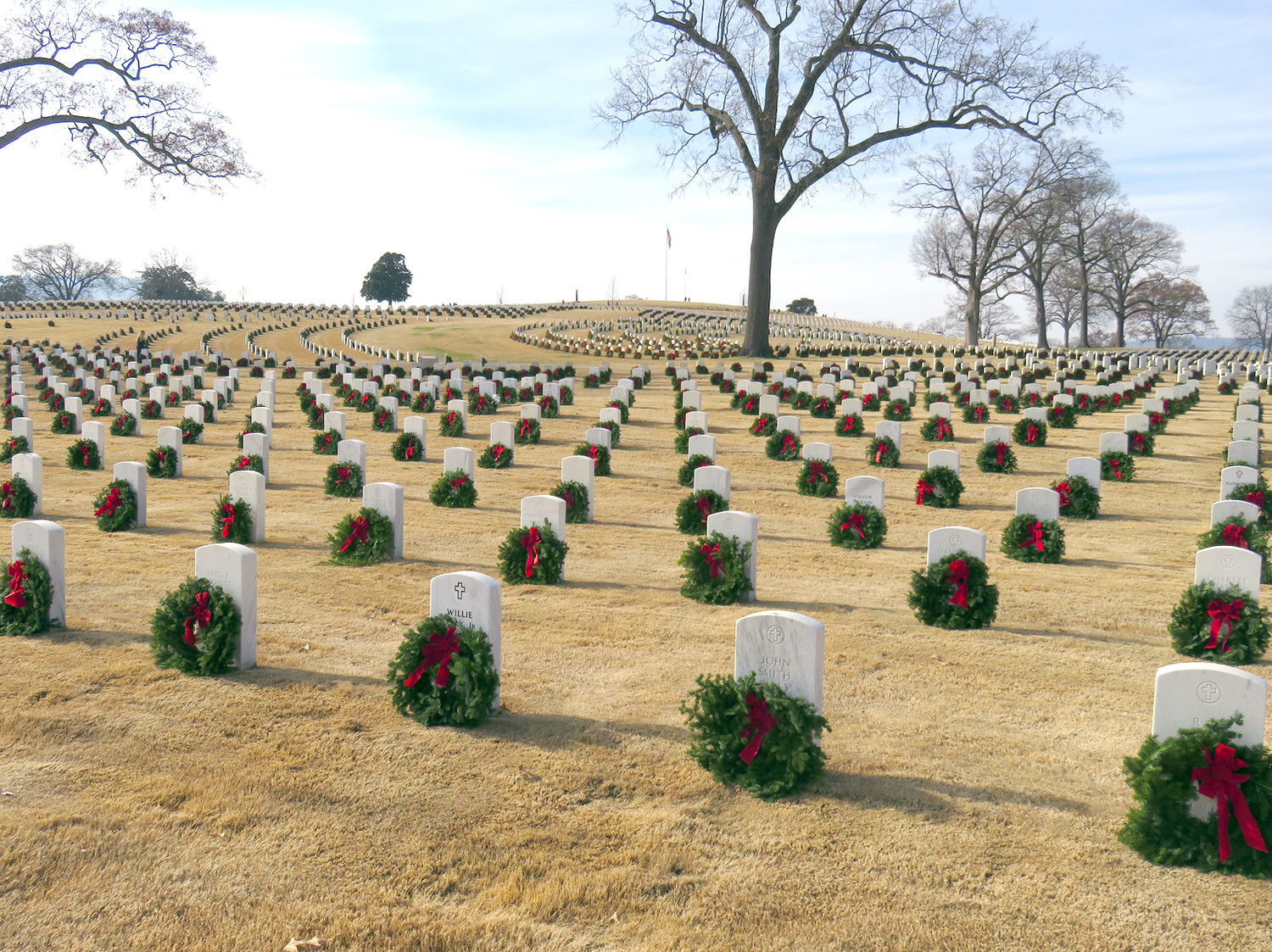 THE COL. BENJAMIN Cleveland Chapter of the Sons of the American Revolution participated in Wreaths Across America, in Chattanooga National Cemetery.