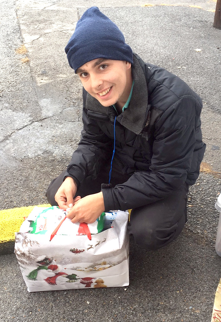 LUCAS IS AN 18-year-old who has found himself homeless and on the streets, after the deaths of his mother and grandmother. The youth made a gallant offer to help Diane Heil in distribution of Lowe's Christmas packages to the homeless.