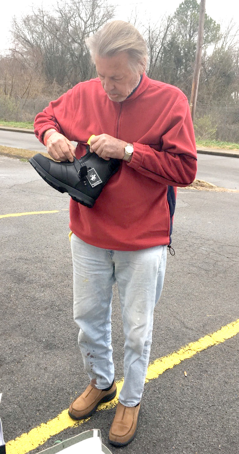 "TROY IS ONE of Diane Heil's most recent ""miracles,"" that she has experienced in helping the homeless. She had a size 14 pair of shoes the shelter resident could use, after the smaller pair on his feet caused them to bleed."