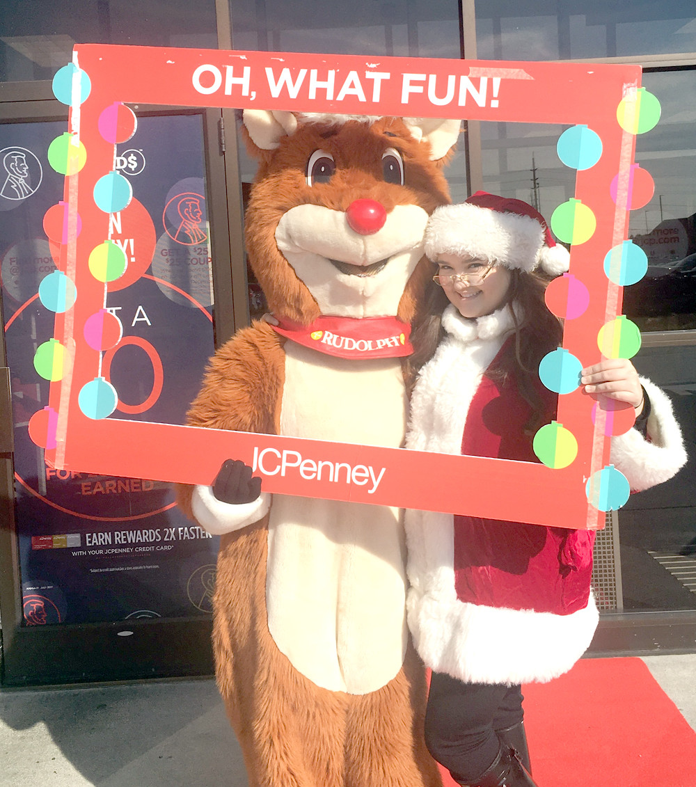 JCPenney's held a Cookies with Rudolph event on Saturday at the store in Bradley Square Mall. The attendees had fun taking selfies with Rudolph and eating cookies. With Rudolph (Abbi Goforth) is Mrs. Clause (Chelsea Johnson).