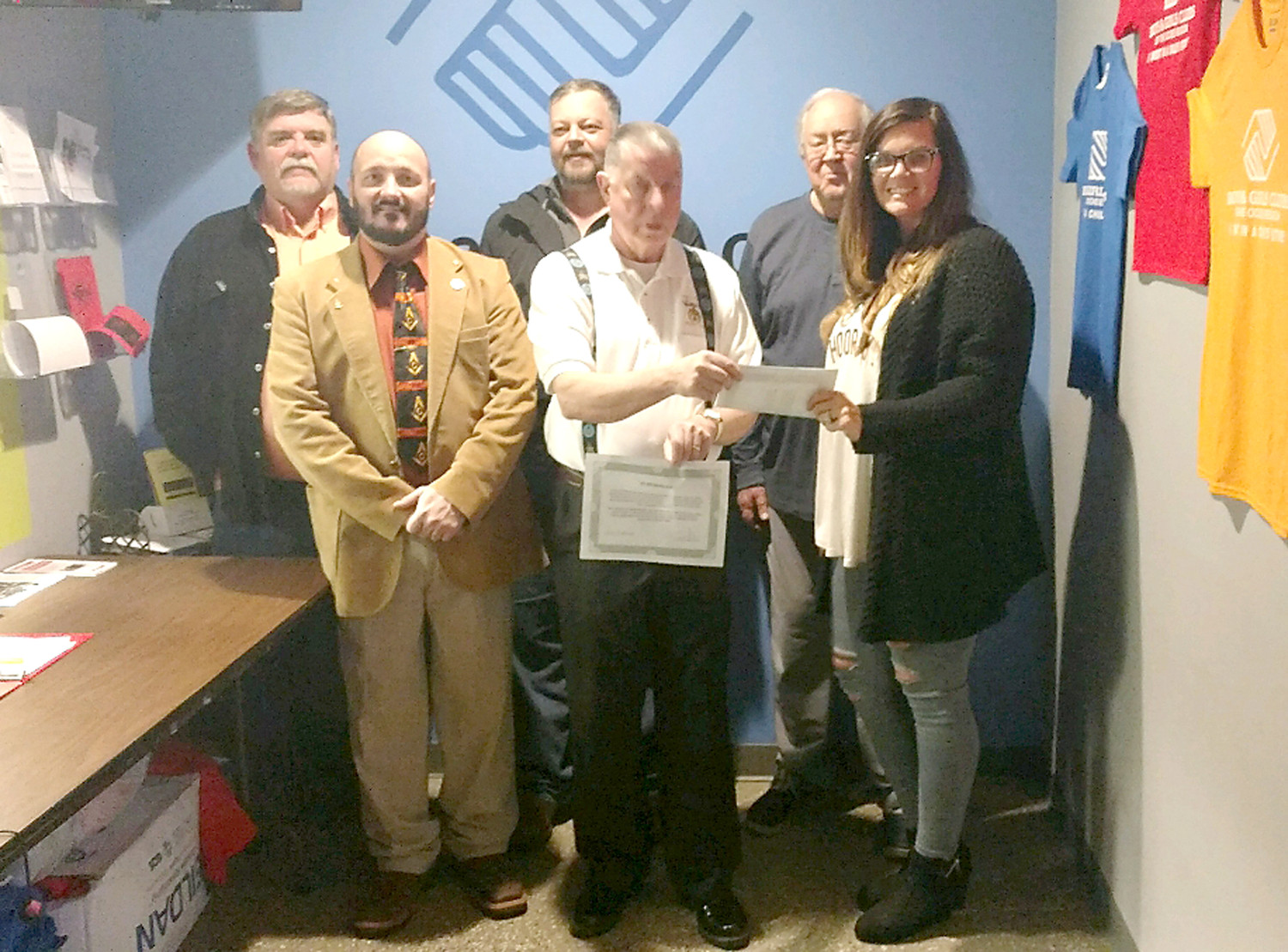 Recently Conasauga Lodge No. 396 F.& A.M. made a donation to the Ocoee Region Boys & Girls Club Benton Unit, for $1,000 in memory of Riley Burris and Destany Vires, two Polk County youth who were outstanding leaders in their community, professed their faith in Jesus Christ and were taken from their loved ones much too early.