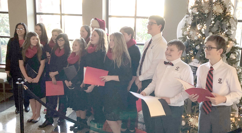 The Tennessee Christian Preparatory School choir performed for the Open House by singing holiday classics and other works.
