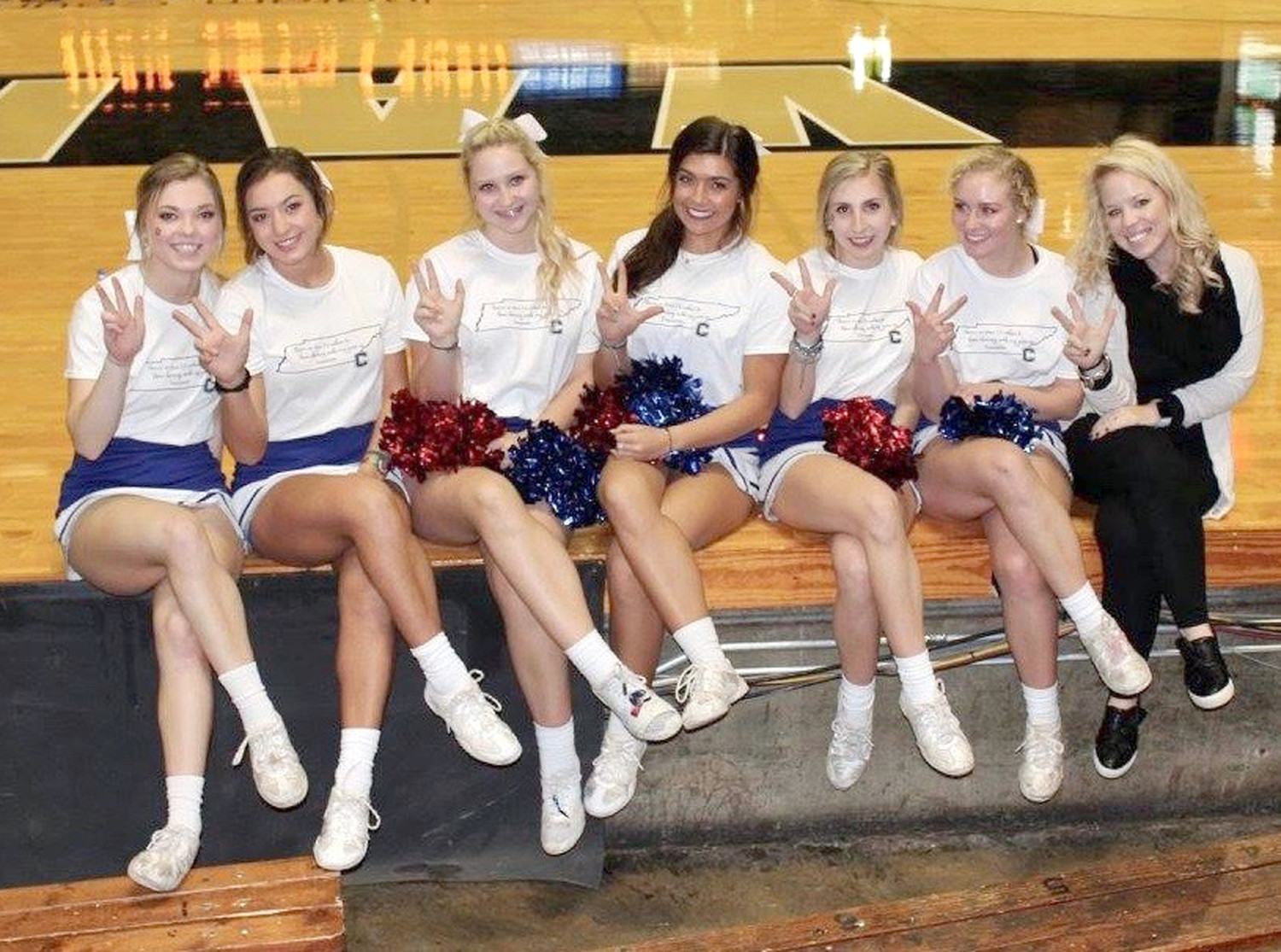 THE SENIORS on Cleveland High School's varsity cheerleading squad have had busy year. From left are Anna Kate Sims, Cameron Davis, Katelyn Hanshew, Olivia Calfee, Hannah Graig and Lindsey Gregg.